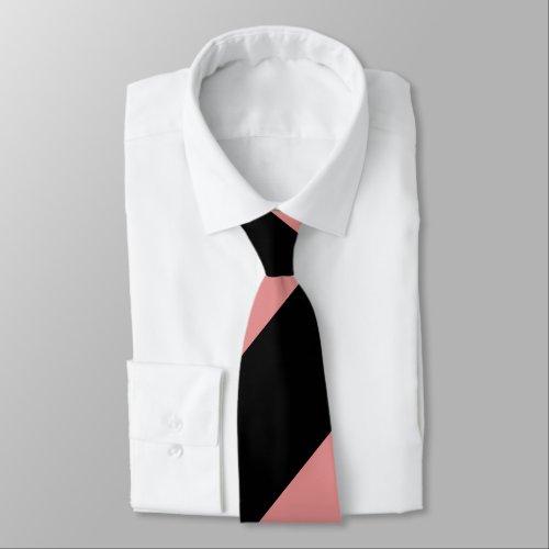Black and Pink Broad Regimental Stripe Tie