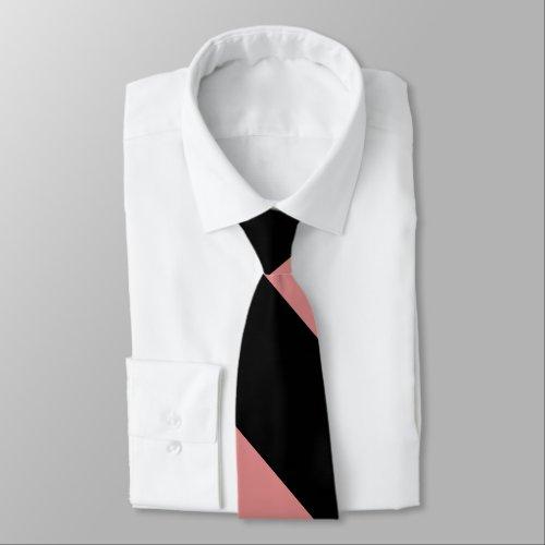 Black and Pink Broad University Stripe Neck Tie