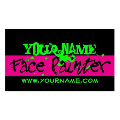 Face painting business card templates bizcardstudio face painting black and pink business card templates colourmoves