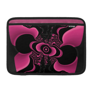 Black and Pink Butterfly Fractal ipad sleeve