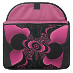 Black and Pink Butterfly Fractal macbook sleeve Sleeve For MacBooks