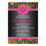 Black and Pink, Camo, Bridal Shower Invitation