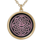 Black and Pink Celtic Knot Necklace