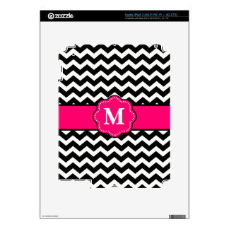 Black and Pink Chevron Personalized Case Decals For iPad 3