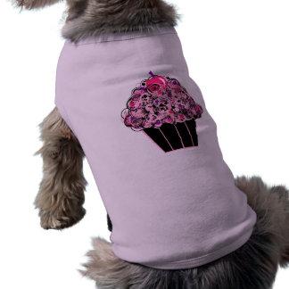 Black and Pink Cupcake Pet Shirt