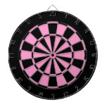 black and pink dart boards
