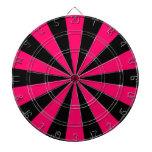 Black and Pink Dartboard