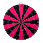 Black and Pink Dartboard