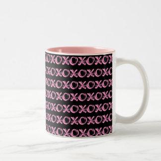 Black and Pink Design XOXO Mug
