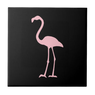 Black and Pink Flamingo Tile