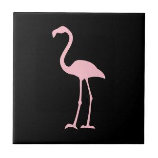 Black and Pink Flamingo Ceramic Tiles