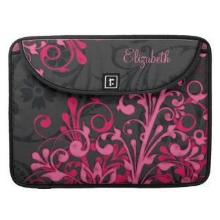 Black and Pink Floral Rickshaw Laptop Sleeve Sleeves For Macbooks