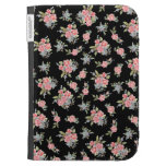 Black and Pink Floral Rose pattern Kindle 3G Covers