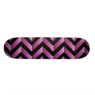 Black and Pink Gradient Chevron Skateboard