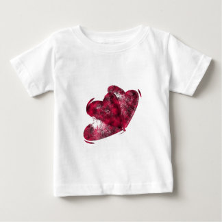 Black and Pink Hearts Baby T-Shirt