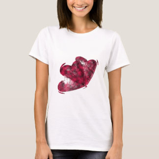 Black and Pink Hearts T-Shirt