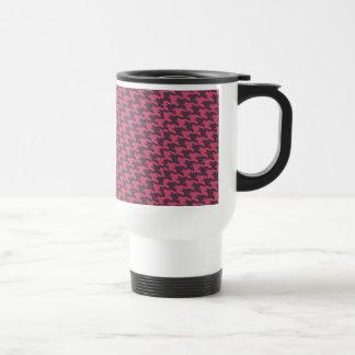 Black and Pink Houndstooth Print Coffee Mug