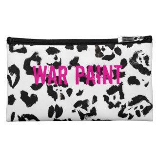 Black and pink medium sized make up bag