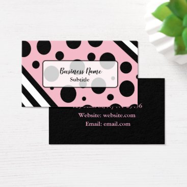 Professional Business Black and Pink Modern Business Cards