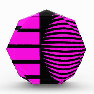 Black and pink mystical geometry acrylic award