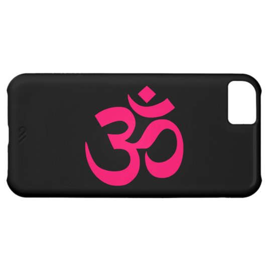 Black and Pink Om Symbol Case For iPhone 5C