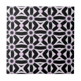 Black and Pink Pattern Tile