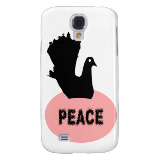 Black and Pink Peace Dove  Galaxy S4 Case