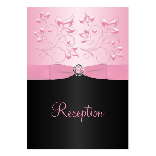 Black and Pink Pearl Loveknot Enclosure Card Business Card Template