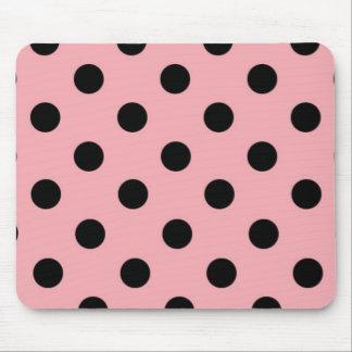 Black and pink Polka Dots Mousepad