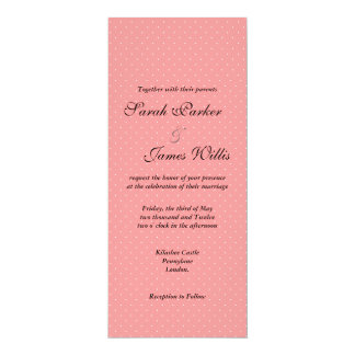 Black and pink Polka party/wedding invite