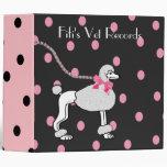 Black and Pink Poodle Binder