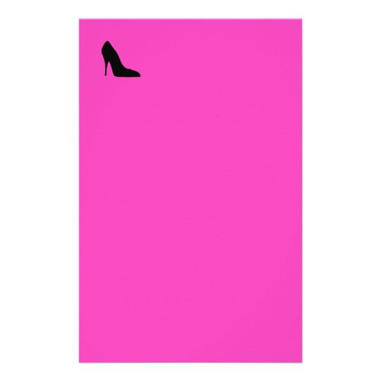 Black and Pink Pumps Stationery