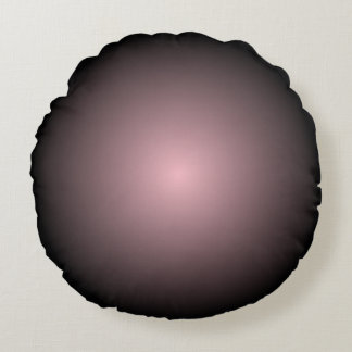Black and Pink Radial Gradient Round Pillow
