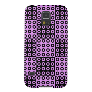 Black and Pink Retro Checker Pattern Galaxy S5 Covers