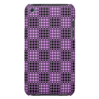 Black and Pink Retro Checker Pern Barely There iPod Cases