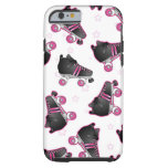 Black and Pink Roller Skate and Star - Derby Tough iPhone 6 Case