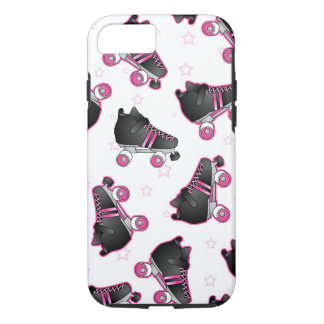 Black and Pink Roller Skate and Star - Derby iPhone 8/7 Case