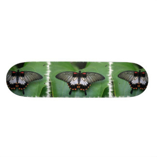Black and Pink Swallowtail Butterfly Skateboard