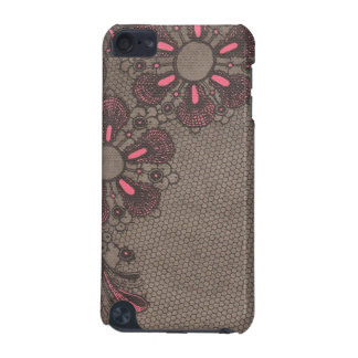 Black and Pink Swirly Fleurs iPod Touch Case