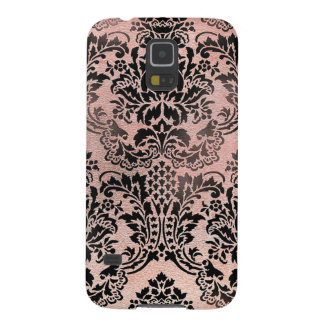 Black and pink textured damask. galaxy s5 case