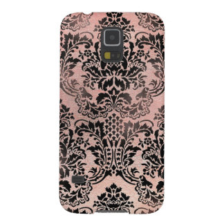 Black and pink textured damask pattern. galaxy s5 cases