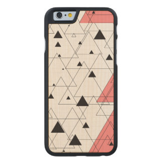 Black and pink triangle Siradesign Carved® Maple iPhone 6 Slim Case