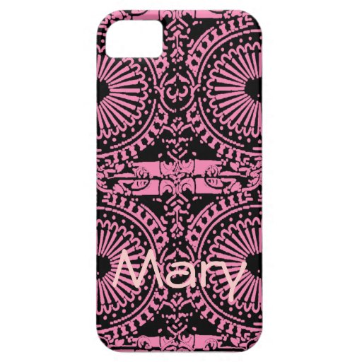 Black and Pink Wheel Art iPhone 5 Cases