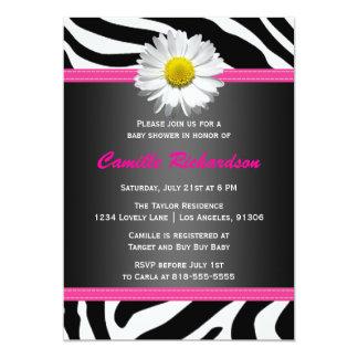 hot pink zebra baby shower invitations  announcements  zazzle, Baby shower invitations