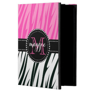 Black and Pink Zebra Print Custom Monogram girly Powis iPad Air 2 Case