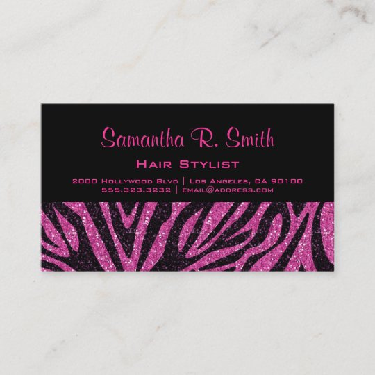 Black and pink zebra professional business card zazzle black and pink zebra professional business card colourmoves