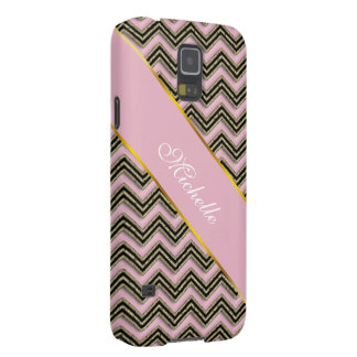 Black and Pink Zigzag Pattern Galaxy S5 Case