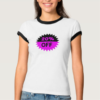Black and Purple 20 Percent Off T Shirt