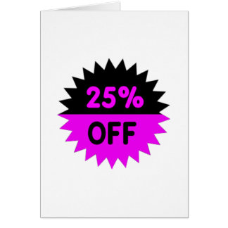Black and Purple 25 Percent Off Card