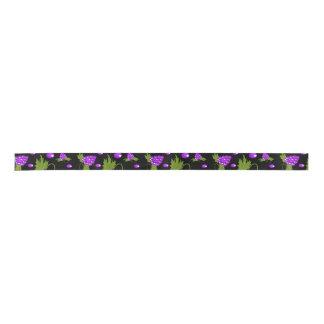 black and purple 2 Yard Spool ribbon Blank Ribbon
